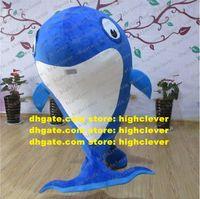 Blue Whale Delfino Cetaceo Porpoise Delphinids Costume Mascotte Adulto Cartoon personaggio dei cartoni animati Party Party Park ZX2924