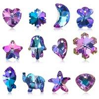 Confezione del pendente colorato Dream Dream Pink Purple Star Moon Fiocco di fiocco di neve Personaggio creativo fai da te orecchino braccialetto gioielli accessori in magazzino