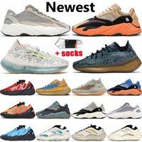 3M STATIC  RUNNER Boost 700 v2 Running Shoes For Womens Mens Azael Alvah Alien Mist Vanta Luxury Designer Sneakers Size 46