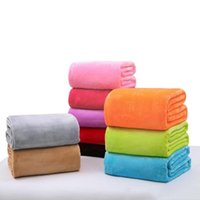 Warm Flannel Fleece Blankets Soft Solid Bedspread Plush Winter Summer Towel Quilt Throw Blanket for Bed Sofa