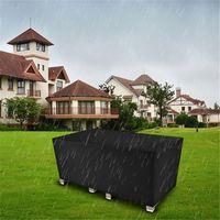 170 * 94 * 70cm 옥스포드 헝겊 의자 커버 블랙 가구 먼지 비 및 태양에서 야외 테이블 보호 내구성 홈 텍스타일 부식 방지