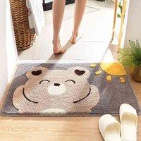 Linda alfombrilla de baño de animales antideslizante Bloving Cuarto de baño Matera absorbente del pie Absorbente Super suave grueso y cómodo baño alfombra 210401