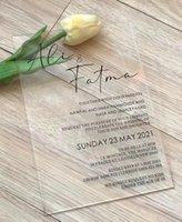 Acryl-Hochzeitseinladung, 10 stücke Klare Einladung mit schwarzen Kalligraphie, Gunst, Dekor, Machen Sie Ihre eigene Stilkarten-Grußkarten