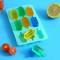 Popsicle mold DIY ice cube ice tray without cover creative diy design silicone cake mold baking mold