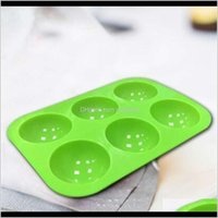 Bakeware Kitchen, Dining Bar Home & Garden10 Colors Semi Mould 6 Holes Half Ball Sphere Chocolate Sile Mold Round Cake Baking Moulds For Des