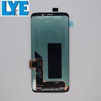 LCD Ekran Samsung Galaxy S9 G960 AMOLED Ekran Dokunmatik Paneller Digitizer Montaj Çerçevesi olmadan Değiştirme
