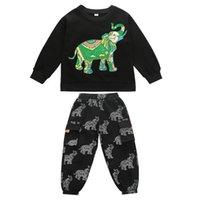 Clothing Sets Boy Suit Boys Kids Outfits Clothes Spring Autumn Cotton Cartoon Long Sleeve T-shirts Trousers Pants Sports Tracksuit 2Pcs 2-8Y B4796