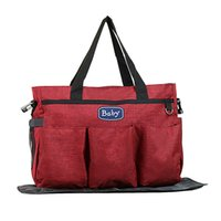 بيع الذاتي حقيبة مومياء متعددة الوظائف سعة كبيرة الأم الطفل حقيبة أمومة زجاجة حفاضات ماء حقيبة حقيبة يد