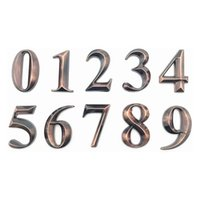 10Pc Gate Digits 0 To 9 Number Tag Numeral Door Plaque House Drawer Sign Plating El Home Sticker Address Label Bath Accessory Set