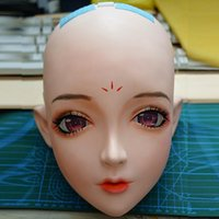 Máscaras de fiesta (km115) Calidad Hecho a mano hembra / niña Resina Half Head Japonés personaje de dibujos animados Cosplay BJD Doll Kigurumi Mask Crossdresser