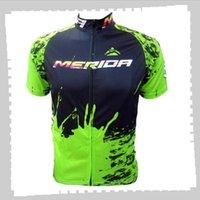 Ciclismo Jersey Pro Team Merida Mens Summer Quick Sport Dry Sports Uniforme Mountain Bike Shirts Road Bicycle Tops Racing Abbigliamento Sportivo all'aperto Sportswear Y21041228