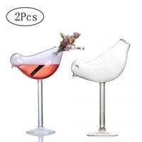 2 stks / set Bird Champagne Glas Creatieve Molecular Gerookte Cocktail Goblet Bril Party Bar Drinken Wijn Juice Cup 150ml