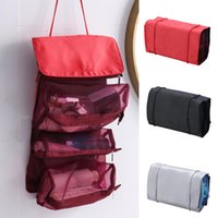 Detachable Large-Capacity Cosmetics Travel Bag Roll Up Makeup Organizer Carrying Case Pouch NE Storage Bags