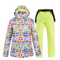 스키 재킷 스키 정장 여성 브랜드 겨울 고품질 재킷 및 바지 스노우 따뜻한 방수 방풍 스노우 보드 정장