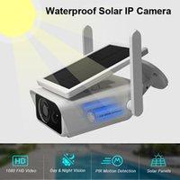 كاميرا IP لاسلكية مع لوحة شمسية WiFi كاميرا ماء قابلة للشحن الطاقة القابلة لإعادة الشحن 1080P للرؤية الليلية