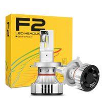 1 쌍 F2 LED 헤드 라이트 H4 H7 H8 H9 H11 9005 LED 9006 HB3 72W 12000LM CSP 칩 안개 램프 H3 전면 헤드 라이트 9012 HIR2 HB4