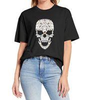 Women's T-Shirt Maltese Dog Skull Tee Novel Funny Halloween Costume Lovers For Women Men Unisex Summer T Shirt Cotton