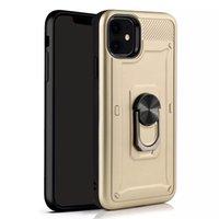 درع درع صدمات فون حالة الغطاء الخلفي ل iphone11-promax 66splusiphone-12 قطرة العسكرية اختبار السيليكون TPU