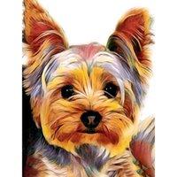 5d diy اللوحة كامل مربع الحيوان الماس التطريز فسيفساء صورة حجر الراين الكلب الديكور هدية المنزل