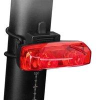 Étanche étanche Équitation arrière LED USB Phare de VTT Phare de VTT Phare Vélo Tail-Lampe à vélo Vélo Teillard Accessoires Lumières