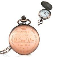 Wall Clocks Fashion Quartz Pocket Watch Necklace Mechanical Clock Pendant Hand-winding Men Women Chain Watches Gift Box Package