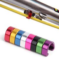 10pcs / 팩 MTB 자전거 브레이크 케이블 Derailleur 라인 케이스 알루미늄 합금 C 형 버클 Clasps 자전거 C 클립 야외 사이클링 부품