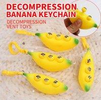 Festa de festa de estoque de estoque Fidget Esprema a chave de banana para aliviar a pressão relevo de descompressão brinquedos para presentes para crianças
