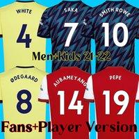 21 22 arsenal soccer jersey ARSENAL FC football shirt 2021 2022 AUBAMEYANG BEN WHITE PEPE THOMAS LACAZETTE men and kids kits