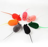 작은 마우스 장난감 소음 소리 퀴즈 쥐 고양이 고양이에 대 한 선물 재생 Pet-toys 고무 플러시 mouses 장난감 도매 sn5835