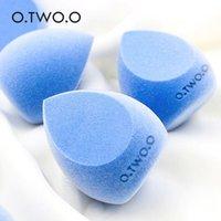 Svampar, applikatorer bomull o.two.o blå flocking vatten droppe svamp pulver puff mikrofiber fluffigt ansikte velvet foundation concealer smink