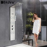 Shower Panel Rainfall Waterfall Rain Head Bathroom SPA Massage Jets Column Hand Bidet Sprayer Set Sets