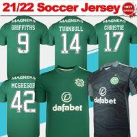 2021 2022 Jersey de football celtique # 8 Kyogo # 11 Abada N ° 10 AJeti # 17 Jota Away Vert Chemise de football Gardien de but Hommes Football Uniformes Personnalisé en vente en vente