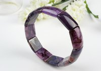 In rilievo, filamenti genuini viola naturale sopgilite pietra rettingo perline monili di moda gioielli stretch braccialetti braccialetti per le donne solo uno