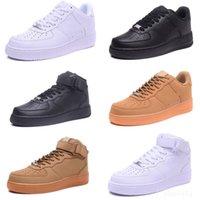 2021 الكلاسيكية المنخفضة رجل أحذية رجالي أزياء كل الأبيض الأسود البني الصلبة المرأة عالية سكيت المدربين أحذية رياضية