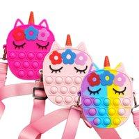 Fidget Toys New Simple Dimple Messenger Bag Push Bubble Antistress Children Toy Poppet Keychain Wallet Christmas