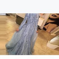 2020 New Muslim Formal Evening Dresses Hijab Dress Dubai Arabic Long Sleeve Sequin Beaded Party Dresses For Women Kaftan Abiye vestidos de