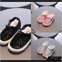 Baby, & Maternity Drop Delivery 2021 Kine Panda Winter Warm Kids For Girls Sneakers Boys With Plush Anti-Slide Toddler Baby Shoes 1 2 3 4 5 Y