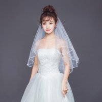 Bridal Veils White Short Women Veil Romantic Three Layers 85 Cm With Comb For Wedding Party Accessories