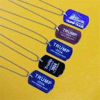 2024 Trump Imprimir Bandera de la campaña Accesorios colgantes Voy a estar detrugando Trump Steel Steel Collar Tarjeta Ejército EE. UU. Elección presidencial G50DEV1