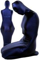 Unisex mummia sacco a pelo costumi blu scuro lycra spandex vestito tuta mummia costumi fancy sacco a pelo unisex halloween vestito cosplay m081