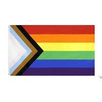 Maryland State Flag MD 3X5FT Rainbow Transgender Gay Pride Lesben Bisexuelle LGBT Banner Flaggen Polyester Messing Tüllen Benutzerdefinierte DWB5982