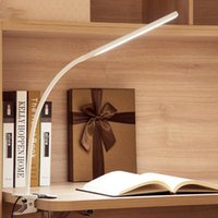 Table Lamps LED 10W Folding Clamp Desk Lamp Eye Protection Rechargeable Clip On Light For Bed Reading Working And Computers