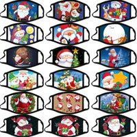 Merry Mask Mascherina Christmas Cartoons Fashion Creativity Face Santa Elk Printing Mascarilla Dust-proof Reusable Washable Xmas Mouth Mask