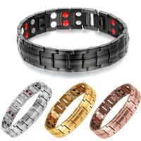 Link, Chain Titanium Steel Men Magnetic Therapy Bracelets Health Care Energy Bracelet For Women Fashion Jewelry Weight Loss Bangles