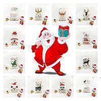 70 * 50cm Partie Noël cadeau de cadeau de Noël Xmas Element Arbre Décorations de Noël Candy Crowstring Sacs ZZA7237