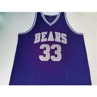 Jersey de basquete raro homens juventude mulheres vintage # 33 scottie pippen bears tamanho s-5xl personalizado qualquer nome ou número
