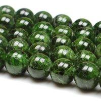 أخرى 7-14 ملليمتر الطبيعية الأخضر الحجر الحجر الحجر جولة diy فضفاضة للمجوهرات صنع الملحقات 15 'النساء الرجال هدية