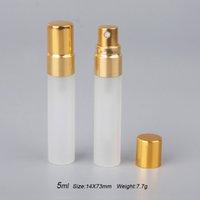 100 Pieces lot 5ml Sample Refillable Mini Perfume Spray Bottles Froste Glass Atomizer Portable Container Bottles