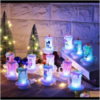 Candles Décor Home & Gardenchristmas Led Pvc Night Lights Portable Flameless Table Decoration Merry Christmas Candle Desktop Decorations W-00