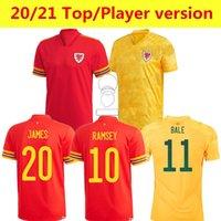 2021 2022 Pailles de Galles Bale Soccer Jerseys Équipe nationale 21 22 James Ramsey Allen Wilson Vokes Hommes Kit Kit Kit Maillot de Football Chemises Uniformes